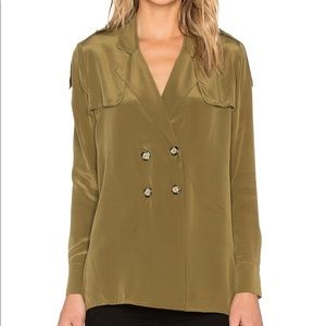 Stone Cold Fox Silk Olive Jacket